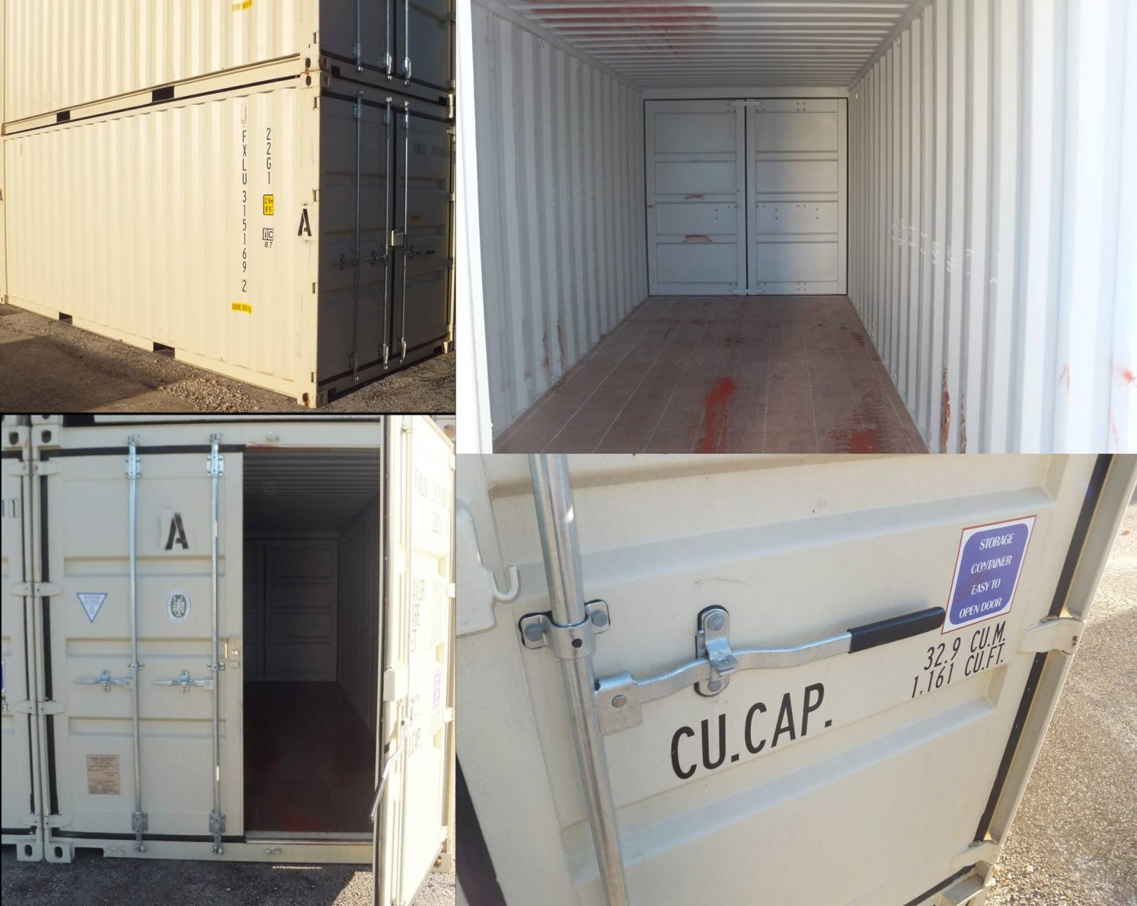Our storage units are weather resistant and designed to be a safe simple ground level solution for your storage requirements