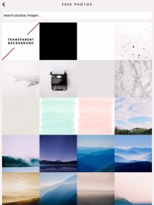 5 apps for gorgeous Pinterest graphics - photo search screen in WordSwag