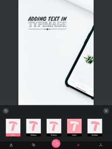 5 apps for gorgeous Pinterest graphics - typographic blending modes in Typimage