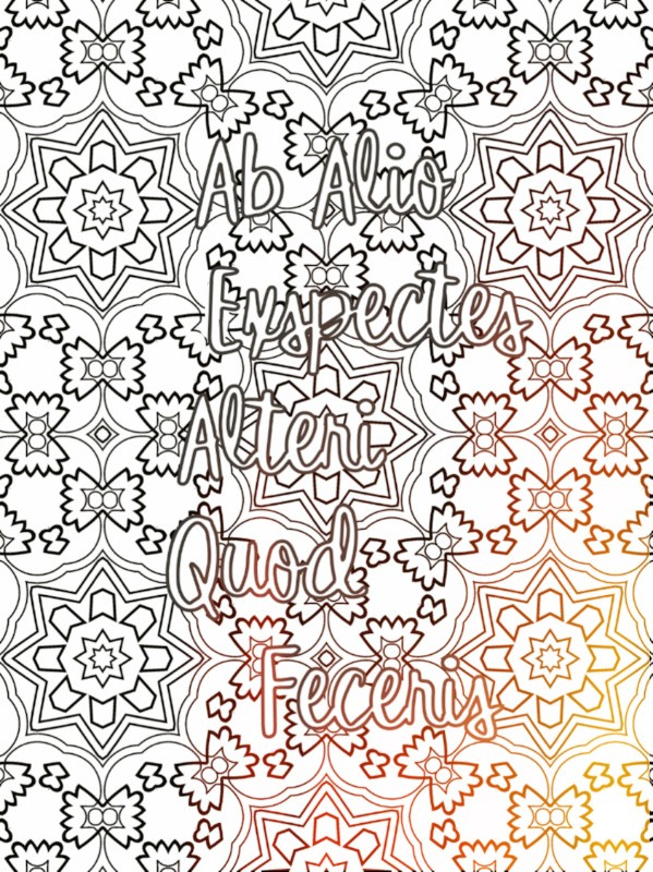 All Latin to Me phrase coloring book sample 1