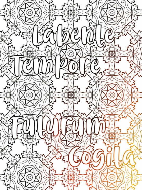 All Latin to Me phrase coloring book sample 5