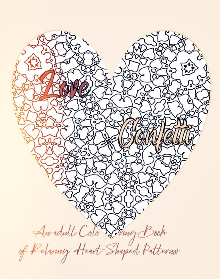 Love Confetti adult coloring book cover