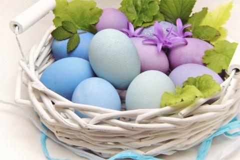 Classic pastel Easter eggs