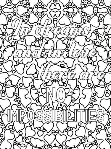 Love quote coloring book I