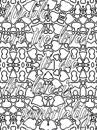 Love quote coloring book U
