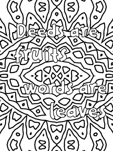 English proverb phrase coloring book D