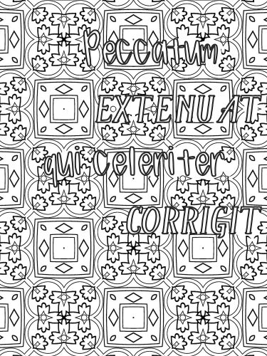 Latin phrase coloring book P