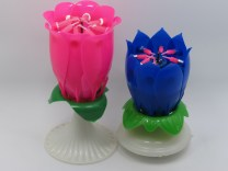 Flower Birthday Candle