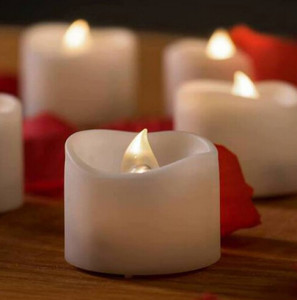 short plastic LED candles