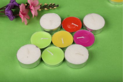 Colored tealight Candles