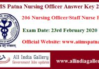 AIIMS Patna Nursing Officer Answer Key
