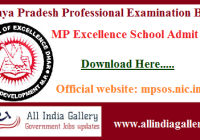 MP Excellence School Admit Card