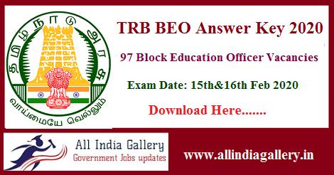 TN TRB BEO Answer Key