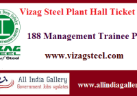 Vizag Steel Plant Management Trainee Hall Ticket