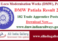 DMW Patiala Apprentice Result 2020