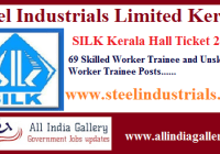 SILK Kerala Workmen Hall Ticket 2020