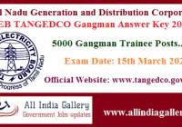 TNEB TANGEDCO Gangman Answer Key 2020