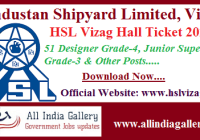 HSL Vizag Hall Ticket 2020