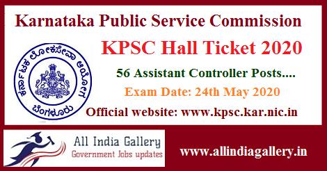 KPSC Assistant Controller Hall Ticket 2020