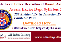 Assam Excise Dept Syllabus 2020