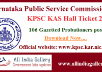 KPSC Gazetted Probationers Hall Ticket 2020