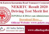 NEKRTC Driver Result 2020