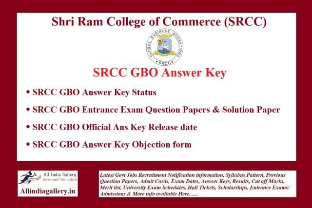 SRCC GBO Answer Key