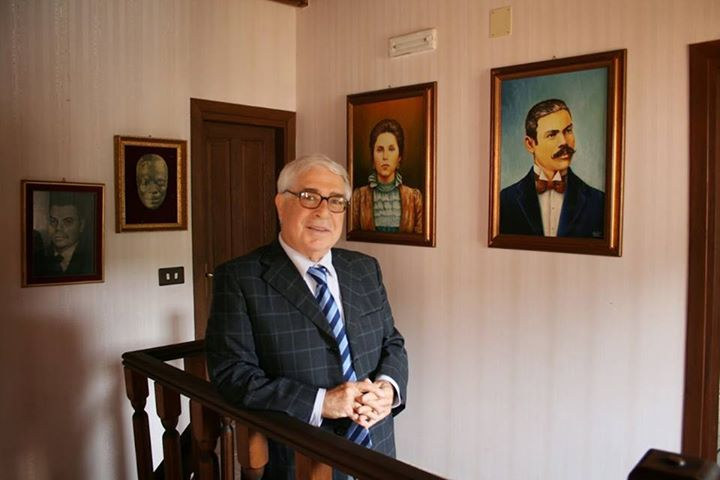 Domenico Logozzo nella casa di Corrado Alvaro, a San Luca