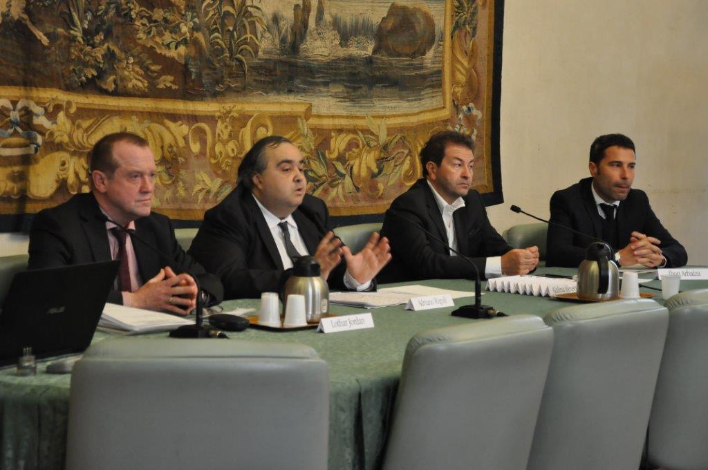 Da sinistra, Lothar Jordan - Adriano Rigoli - Marco Capaccioli - Iron Arabia