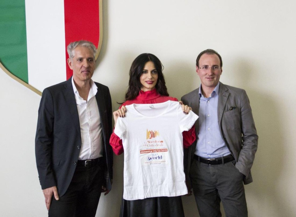 Rossella con Giuseppe Casale, Presidente di Puglia Marathon ASD e Vito Renna Vice Presidente Puglia Marathon ASD