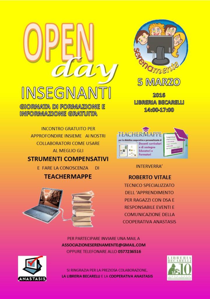 open day insegnanti 5 marzo