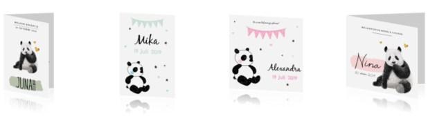 Geboortekaartjes met pandaberen - AllinMam.com