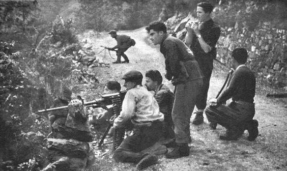 Italian partisans in Val di Pesio, Piemonte.