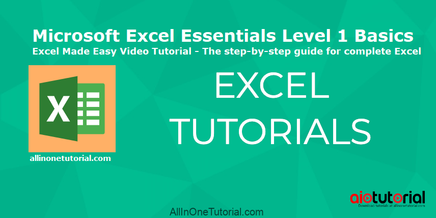 Microsoft Excel Essentials Level 1 Basics – Excel Made Easy Video Tutorial – The step-by-step guide for complete Excel