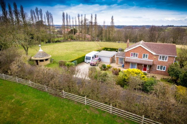 arial photography of property