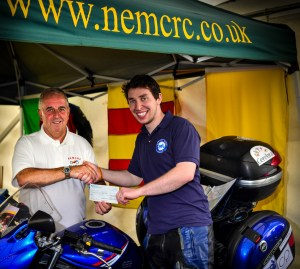 NEMCRC present cheque to Arctic Ride 2014