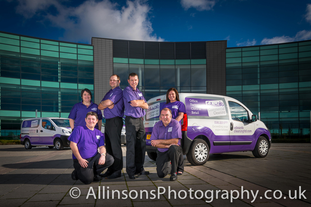 professional photographer captures newcastle cleaning team