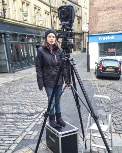 technical view camera at work in Newcastle upon Tyne