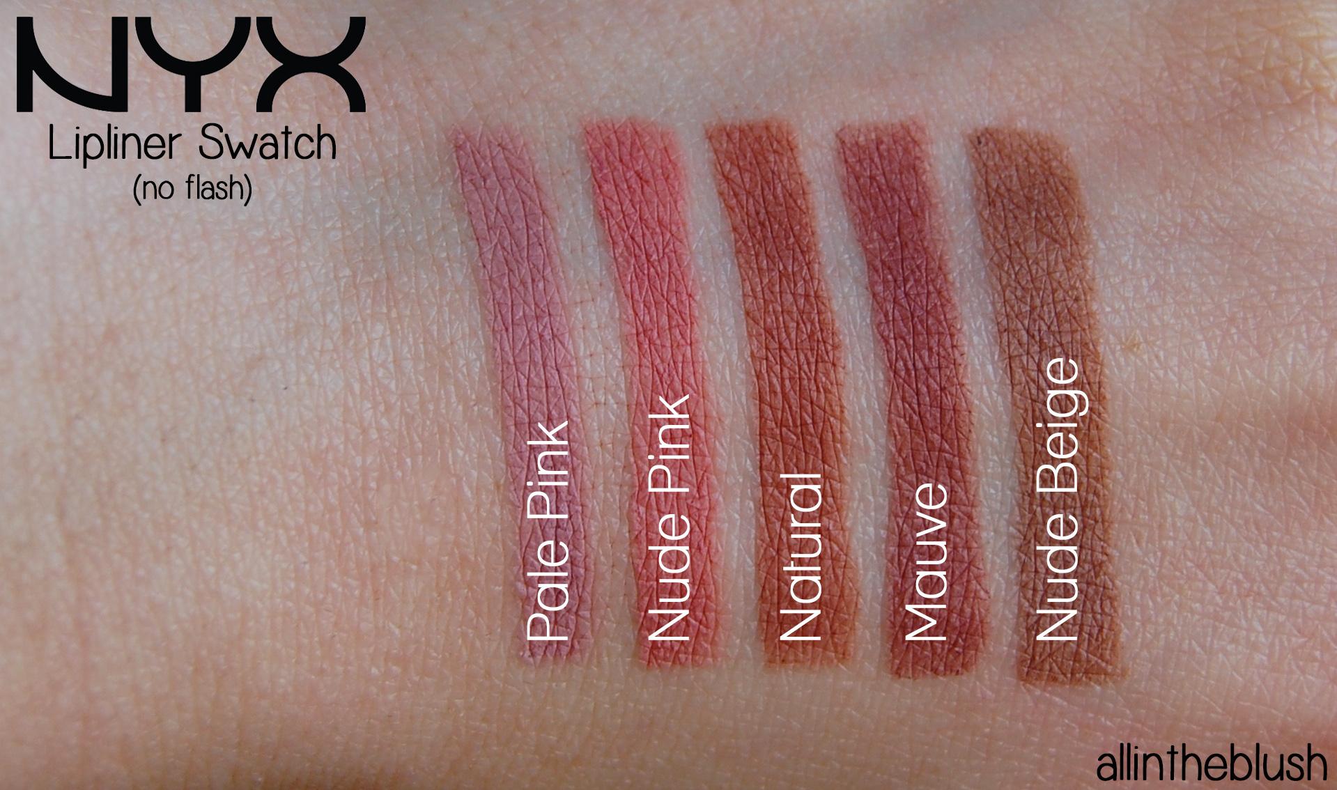 NYX Lip liners slim pencils makeup review part 2