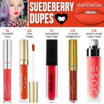 Lime Crime Suedeberry Velvetine Dupes