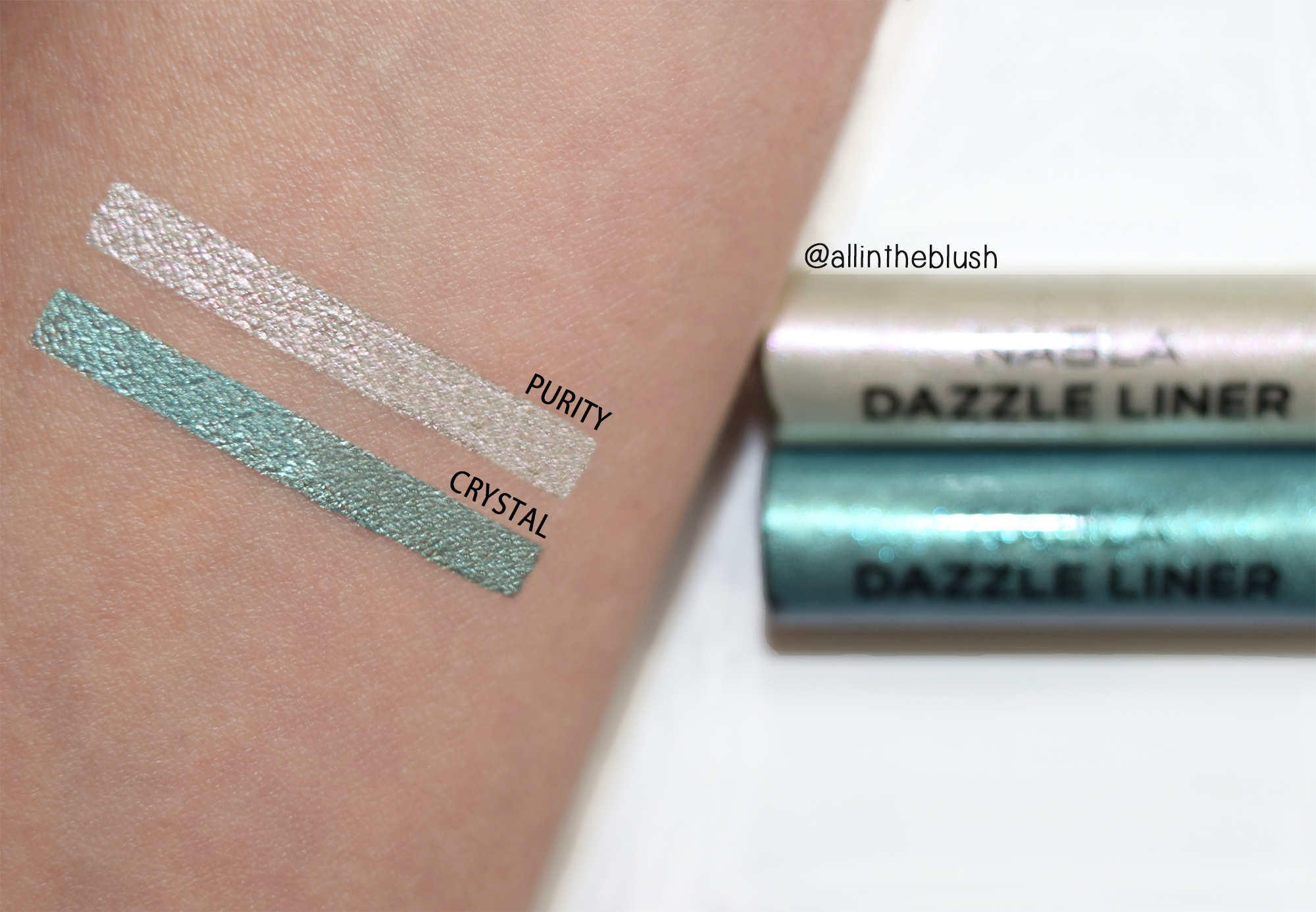 Nabla Freedomination Dazzle Liner Swatches