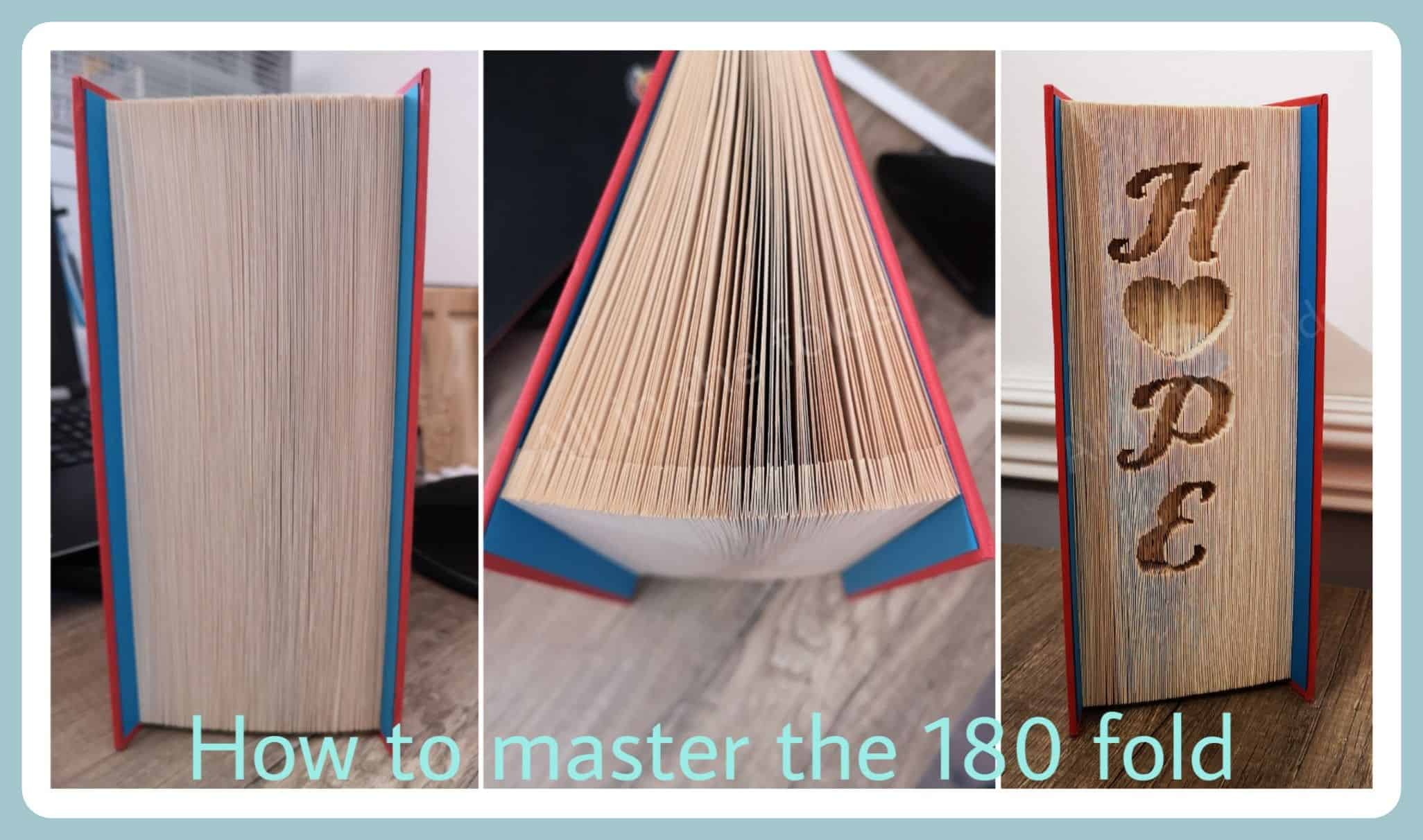 Book Fold Cut and Fold Instructions Folded Book Pattern Only 180 Invert Home BOOK FOLDING PATTERN