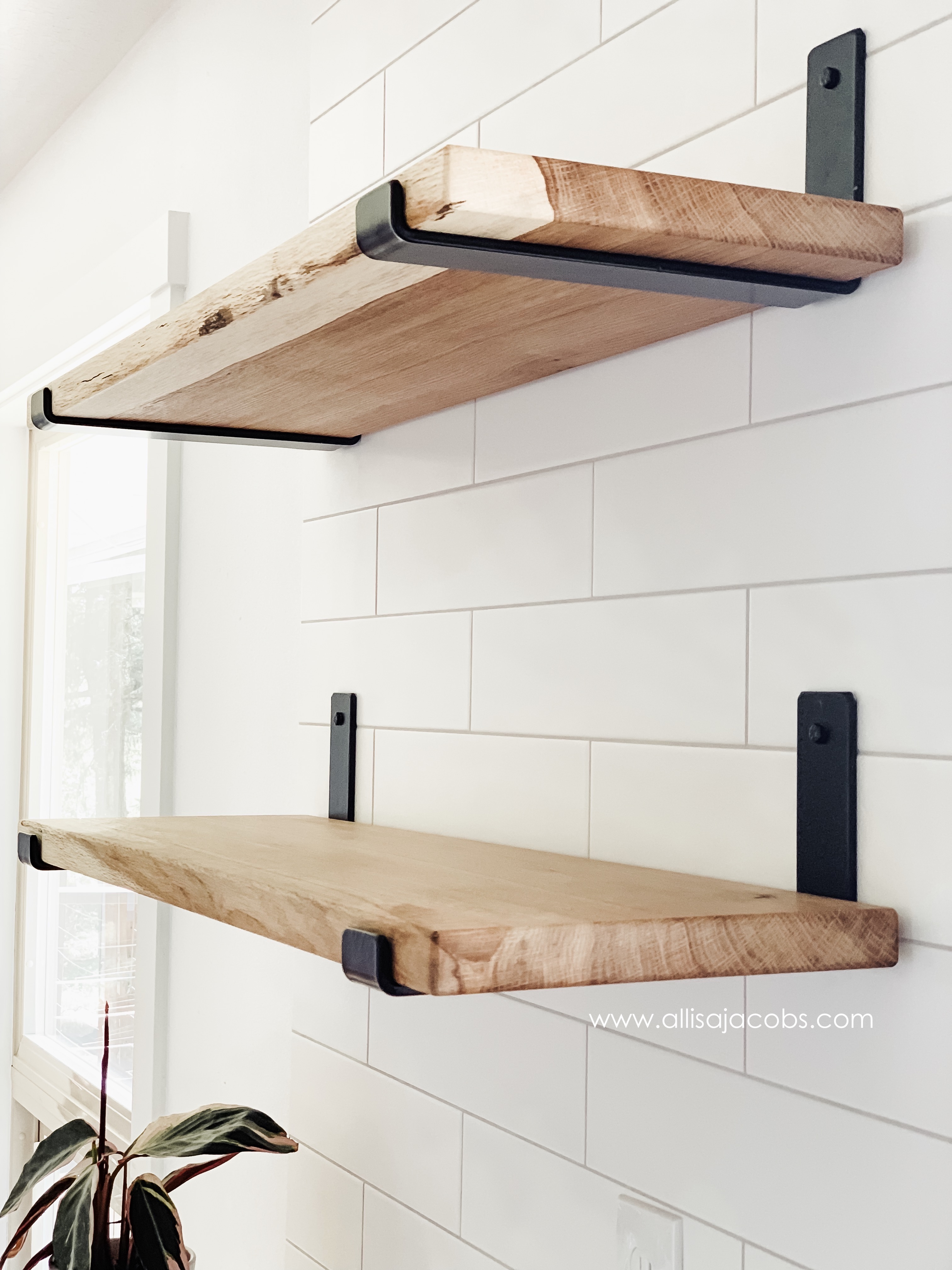 How To Make Open Shelving A Diy Wood Shelf Tutorial Allisa Jacobs