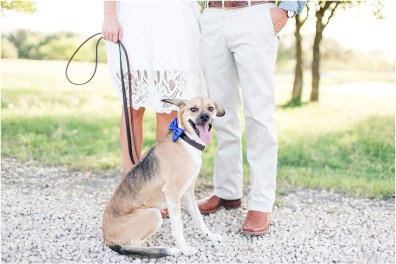 Boerne Texas Hill Country Engagement Session With Pet Dog_0009