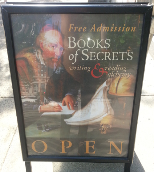 Book of Secrets sign