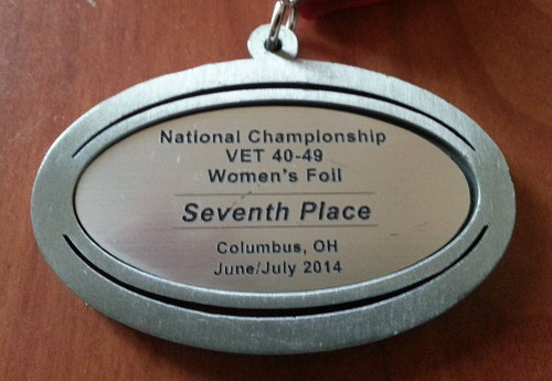 seventh place medal, USFA National Championships 2014