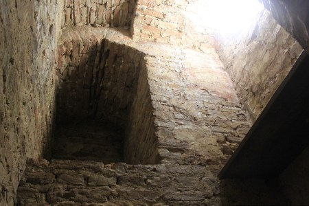 rectangular alcove in a stone wall