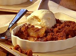 Apple Betty Day ice cream and fork