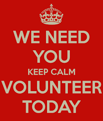 we need you to volunteer today