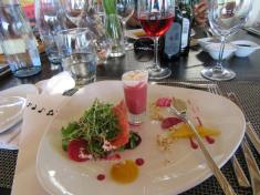 Beet root soup & Whalehaven Rose